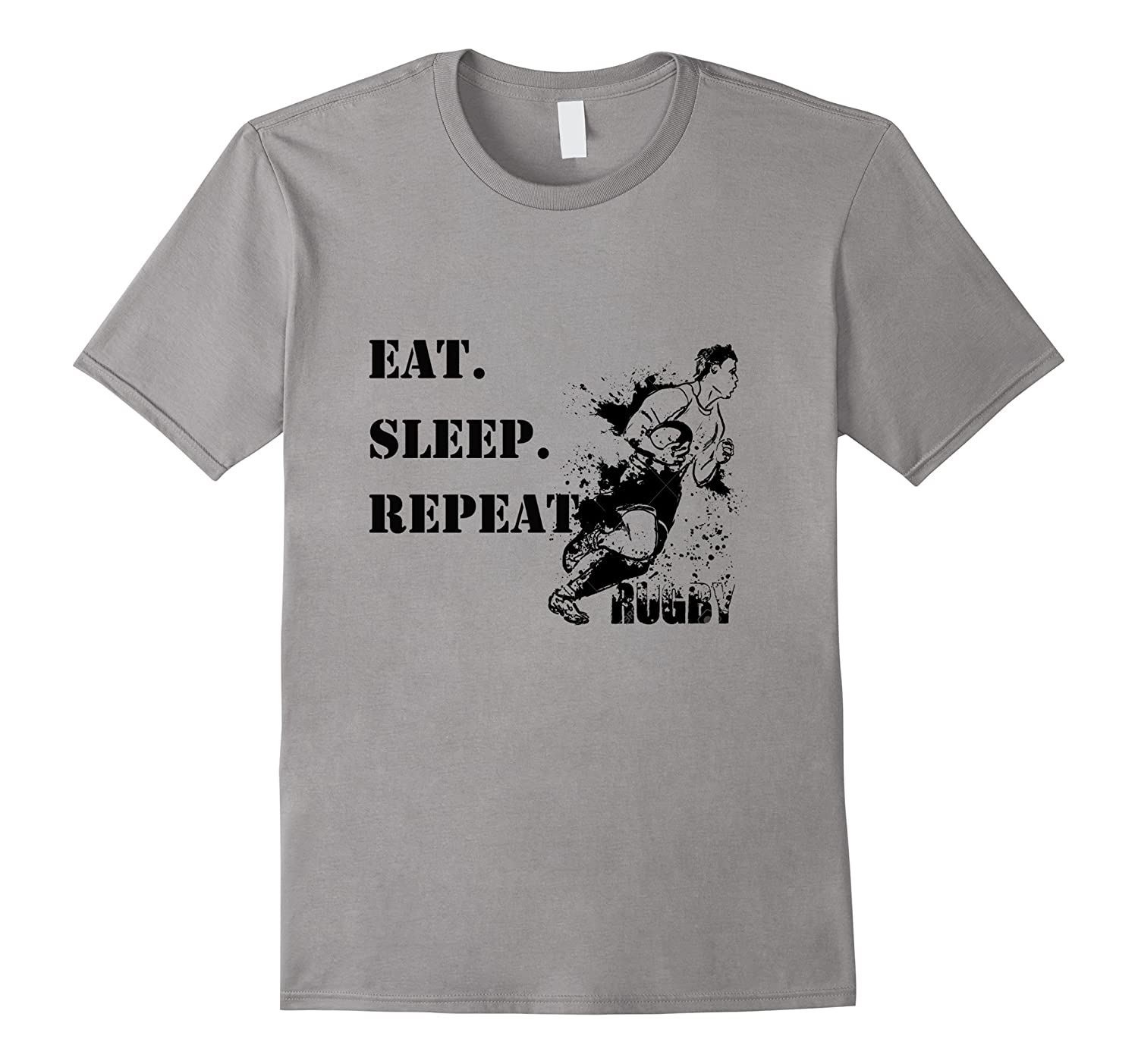 EAT SLEEP RUGBY REPEAT T-SHIRT-CD