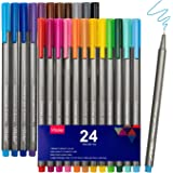 VITOLER Colored Pens Bullet Journal Pens Pack of 24 Fineliner Pen Set for Writing,Drawing,Note Taking Planning