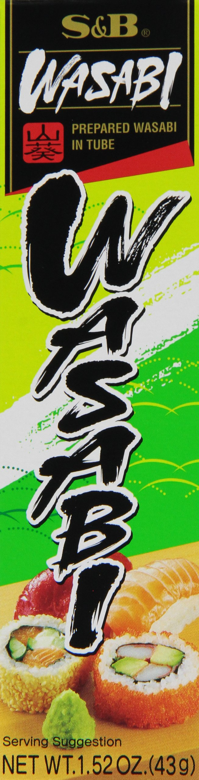 S&B Prepared Wasabi in Tube, 1.52 oz (43 g) tubes (Pack of 10)