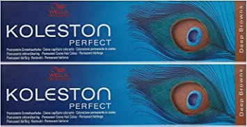 Wella Koleston Perfect 6/73 - Tinte de coloración, 60 ml, 2 unidades, color rubio oscuro marrón y dorado (marrón profundo)