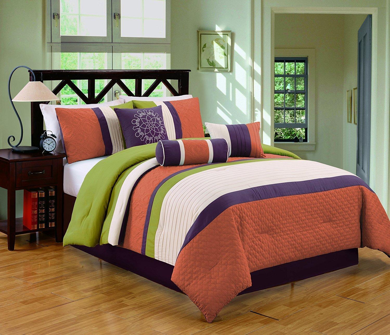 chic home burgundy sets kitchen comforter size dp piece set amazon carlton king com