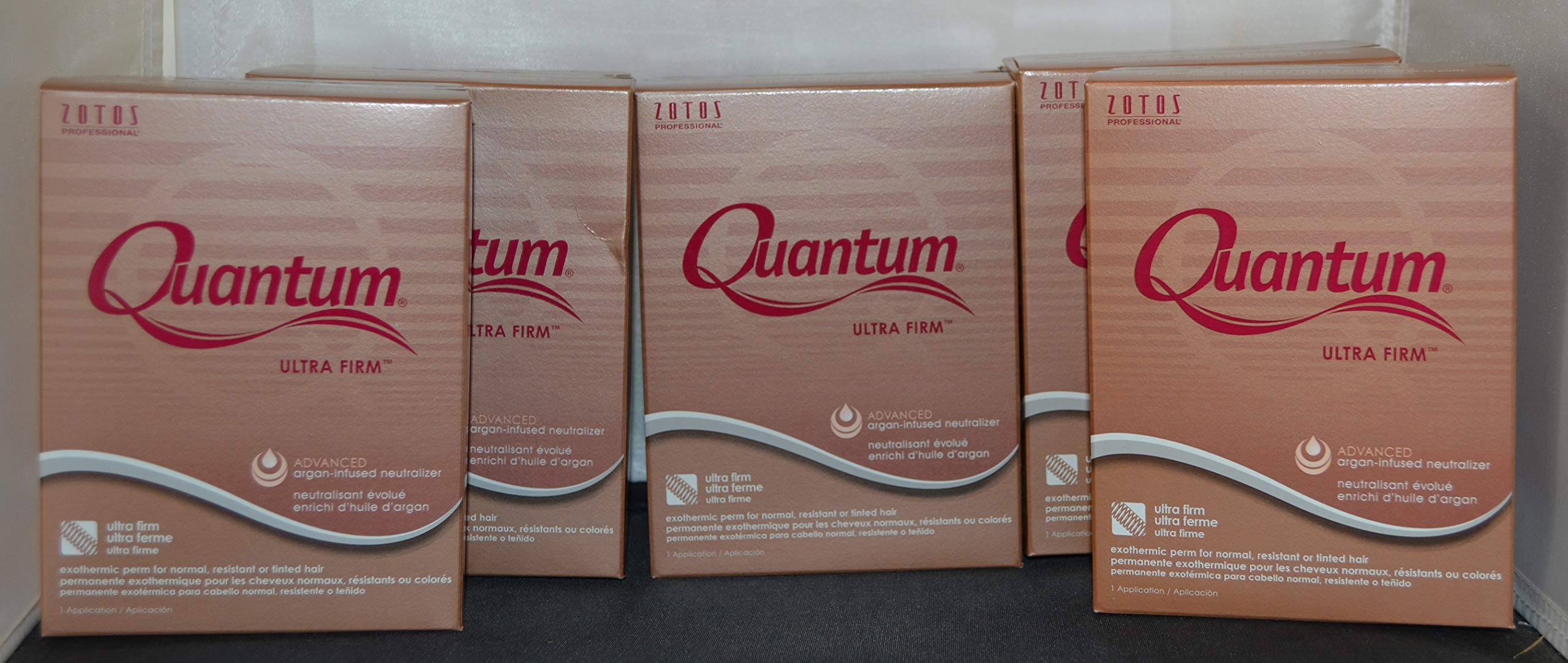 Quantum Ultra Firm Exothermic Perm for Normal, Resistant, or Tinted Hair - 5 pack