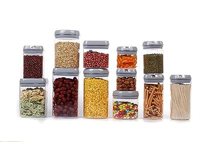 Amazoncom Airtight Food Storage Container Set 12 Plastic