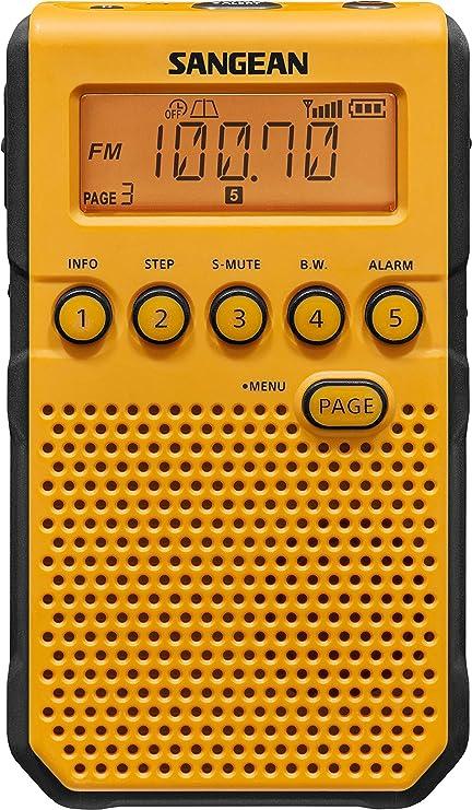 NOAA Weather Alert//Rechargeable 45 Pre Alarm Clock Sangean DT-800BK AM//FM