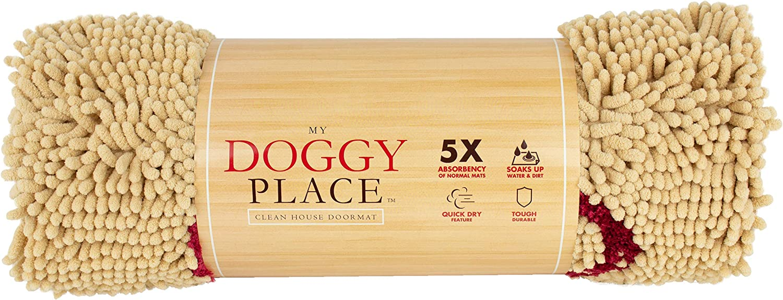 My Doggy Place Ultra Absorbant En Microfibre Chien Paillasson Farine D/'Avoine W // Paw Print, Gros Durable, - 36 X 26 Pouces
