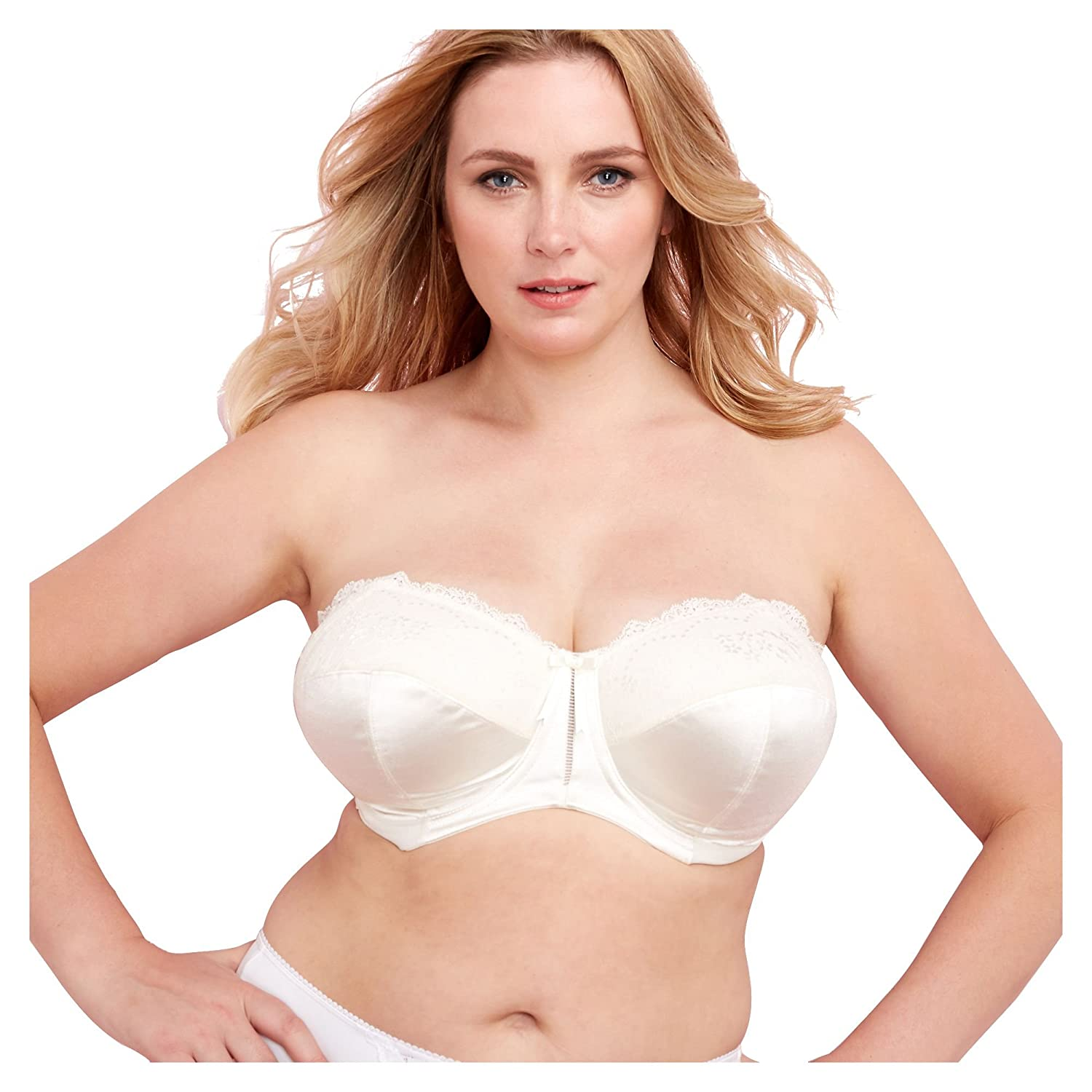 a2d776d8870ac Elomi Ivory  Maria  Underwired Padded Dd+ Strapless Bra 40F  Elomi  Amazon.co.uk   Clothing