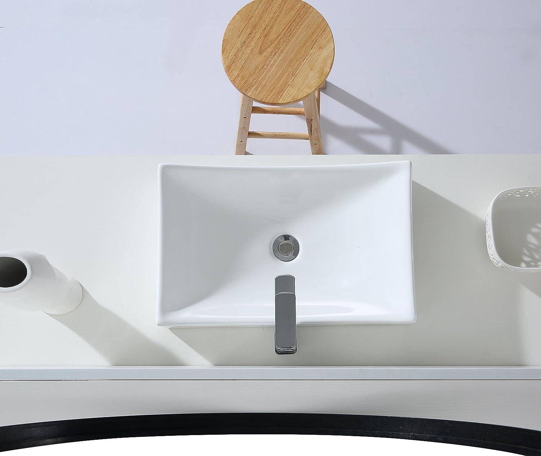 Aufsatzwaschbecken Eckig Design Waschplatz Aufsatz Handwaschbecken Eridanus Serie Tribeca