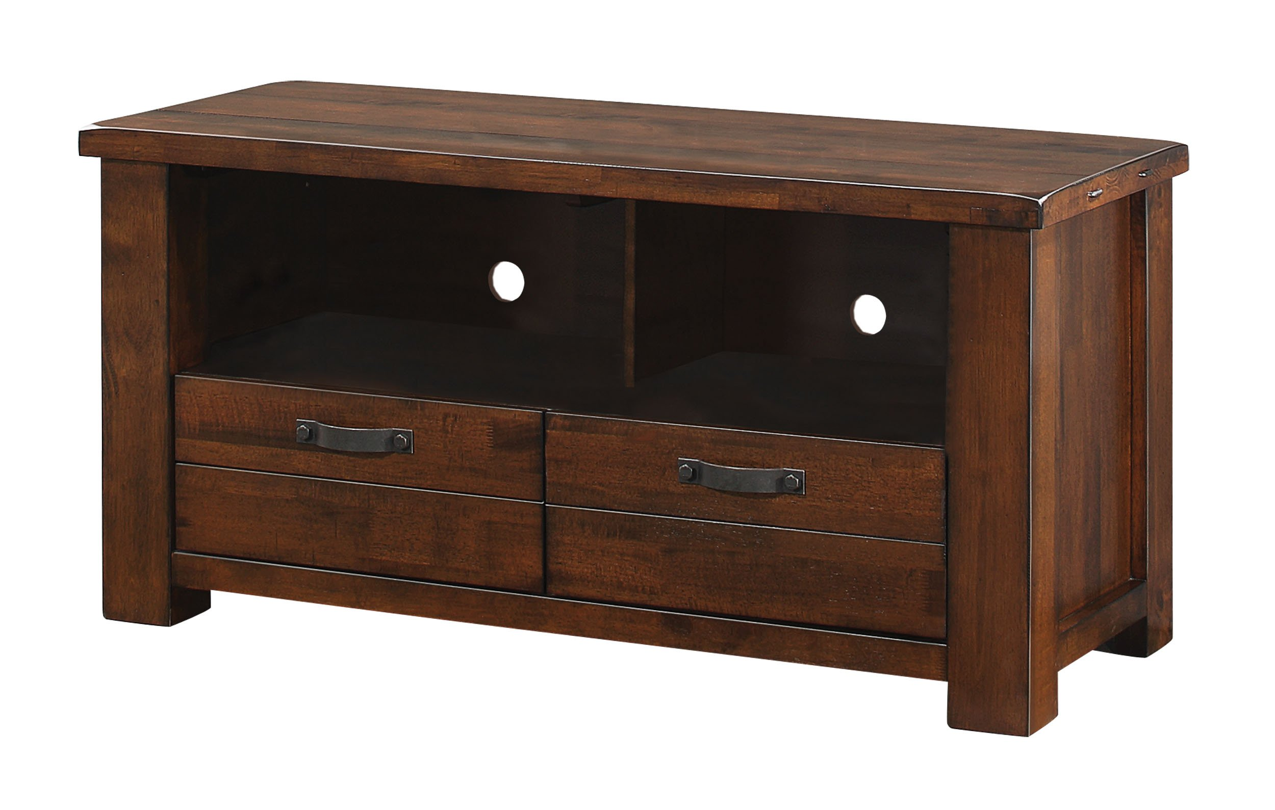 Homelegance 48'' TV Stand Entertainment Center with Open Shelves and Drawers, Brown