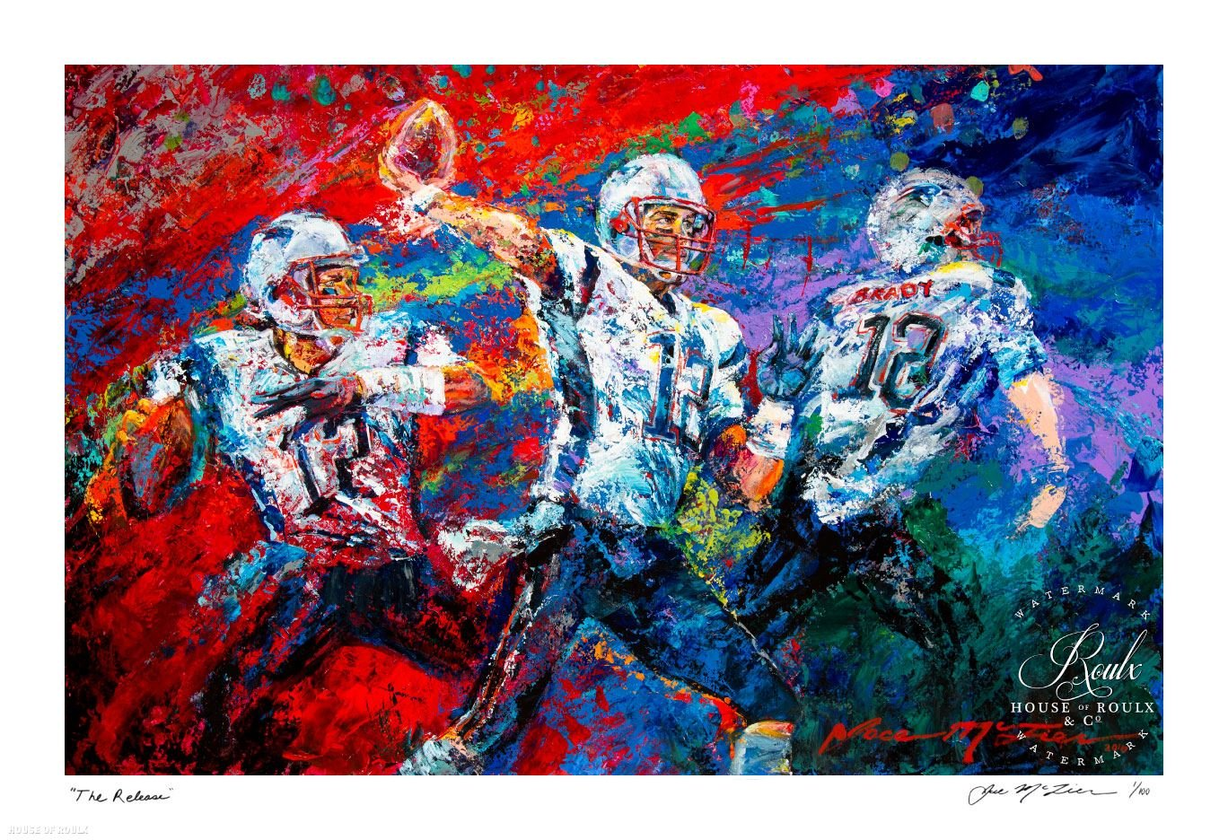 Tom Brady -'The Release' by Jace McTier - Artist Signed Ltd Ed of 100