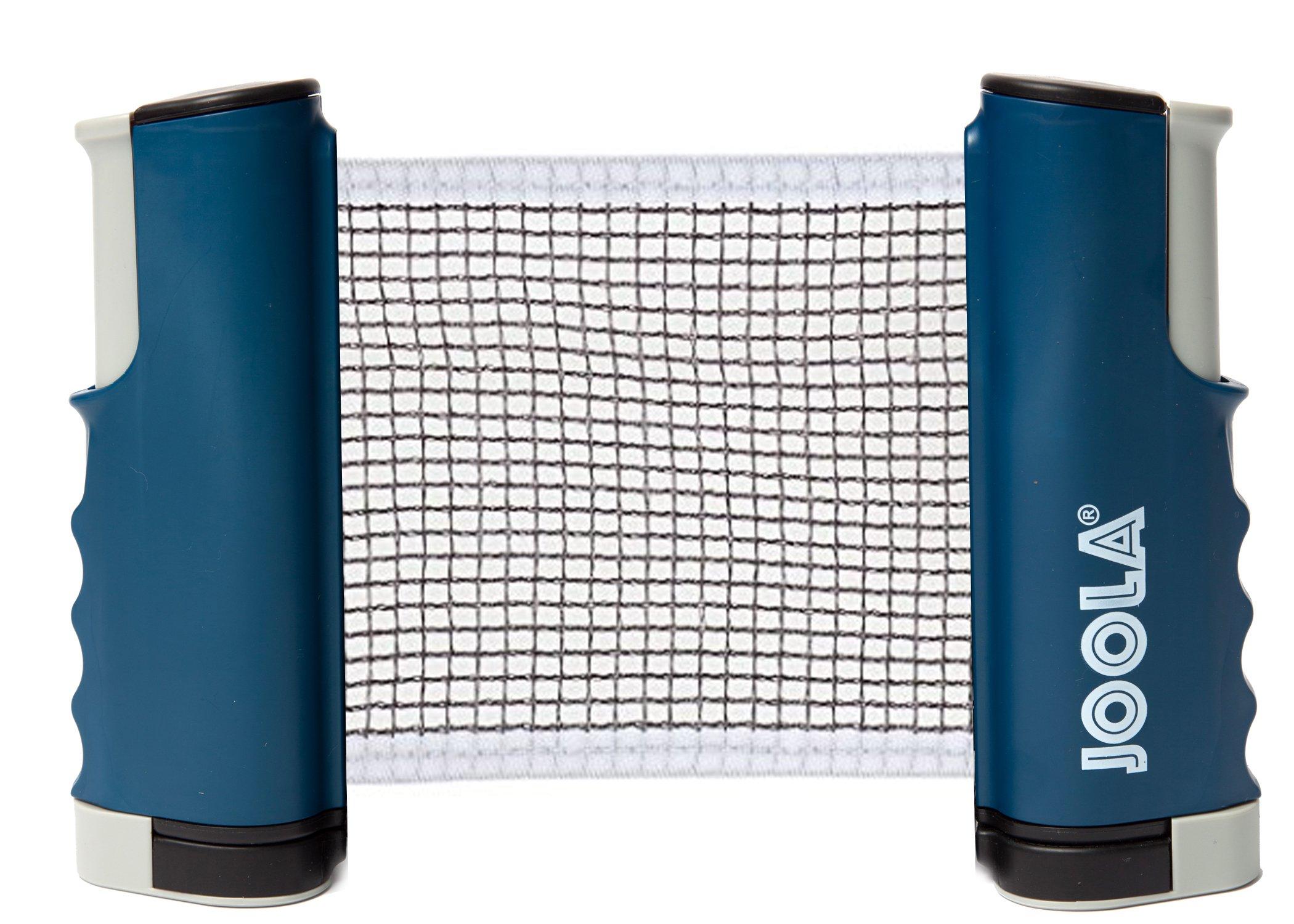 JOOLA Retractable Portable Table Tennis Net and Post Set (Adjustable Length)