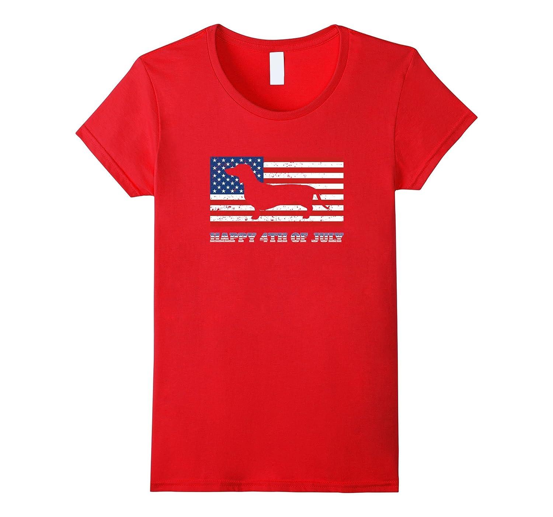 4th of July Dachshund Sausage Dog T Shirt