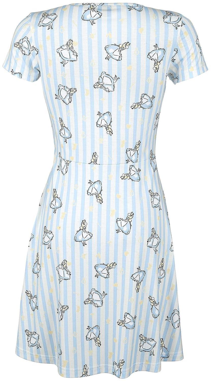 Alice In Wonderland Stripes Dress light blue/old white