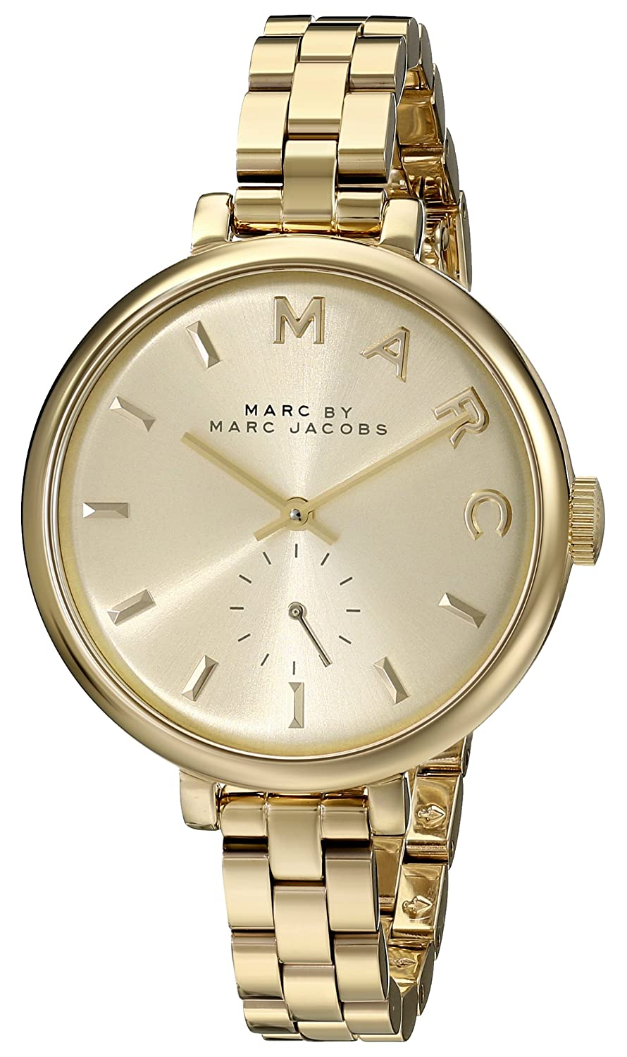 278310a044e56 Amazon.com: Marc by Marc Jacobs Women's MBM3363 Sally Gold-Tone Stainless  Steel Watch with Link Bracelet: Watches