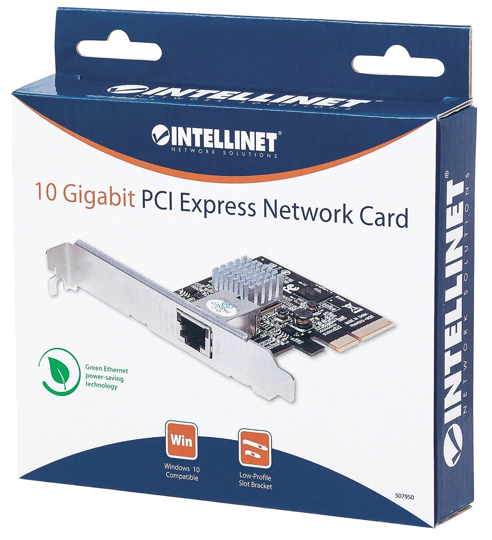 507950 grau 10GBase-T - 5GBase-T - 2,5GBase-T - 1-Port PCI Express 2.0 Intellinet 10 Gigabit PCI-Express-Netzwerkkarte