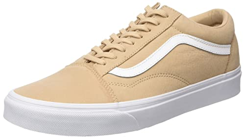 1ea4ccf3e5e Vans Men s Old Skool Lace-Up Low-top Sneakers Beige (Premium Leather ...