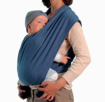 8b5a6b9f8820 Amazon.com   Amazonas - Echarpe de portage - Carry Baby Bleu   Baby