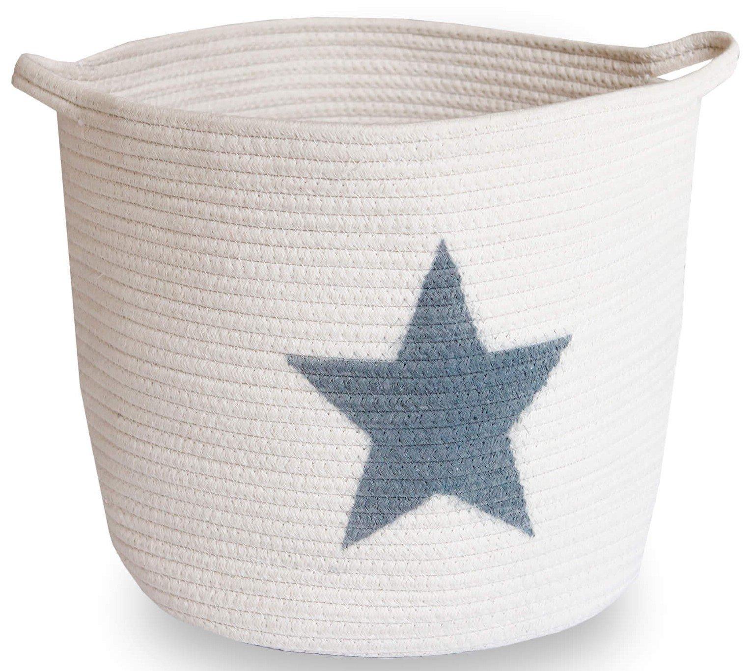 Toy Basket, Storage Baskets, Cotton Rope Large Woven Storage Basket, Blanket, Laundry Basket, Towel Storage, 15x13 Baby Storage Bins, Stuffed Animal Storage, Storage Organizer, Nursery and Home Decor