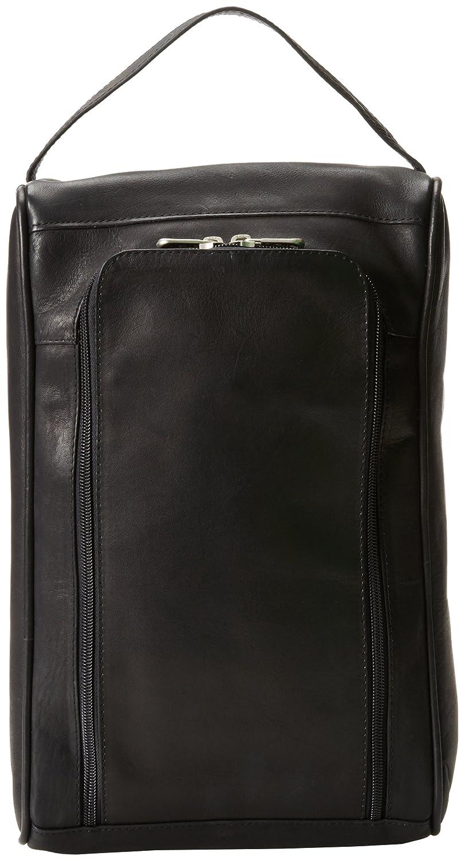 5f52c1c694da Amazon.com | Piel Leather U-Zip Shoe Bag, Black, One Size | Shoe Bags