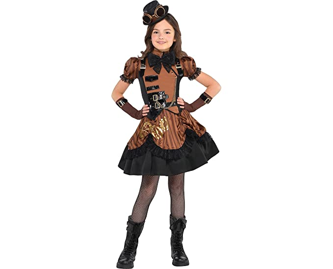 Steampunk Kids Costumes | Girl, Boy, Baby, Toddler Amscan Steampunk Halloween Costume for Girls Medium with Included Accessories $39.99 AT vintagedancer.com