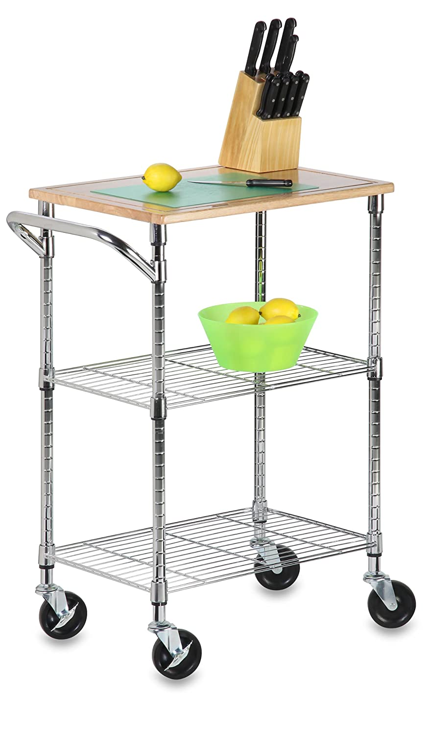 Beautiful Amazon.com: Honey Can Do SHF 01607 Urban Rolling Cart, Chrome, 2 Shelf:  Home U0026 Kitchen