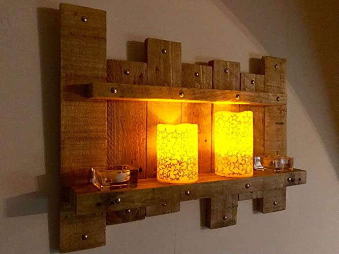 handmade wooden home decor rustic home decor wall art reclaimed pallet shelves wooden home Handmade unique wooden shelf candle holder rustic farmhouse wall wood art  hanging decor hall home shelving rack vintage reclaimed pallet wood light  oak