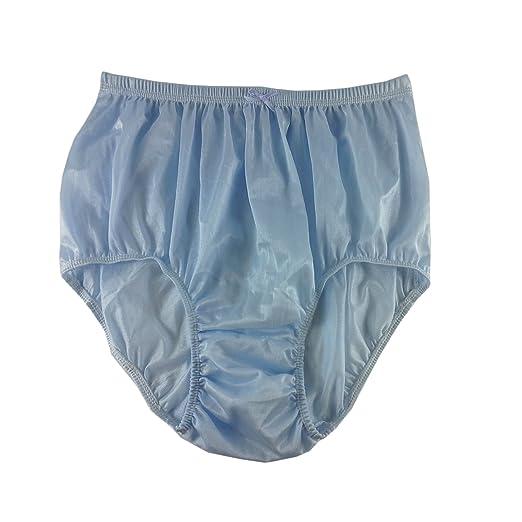 ad3c84bce05d90 Silky Blue Plain Panties Briefs Sheer Nylon Underwear for Women & Men Plus  Size (XL