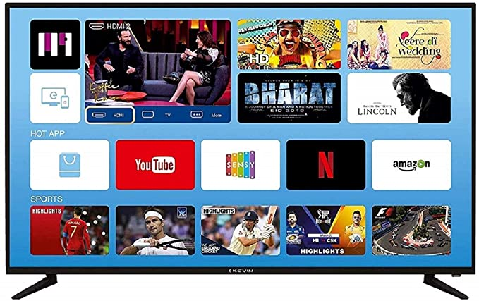 Kevin 140 cm  55 Inches  4K UHD | HDR 10 LED Smart TV KN55UHD  Black  Televisions