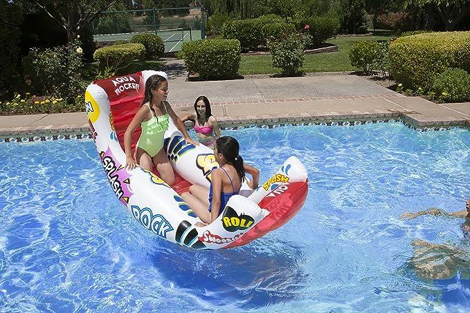 Amazon.com: Poolmaster Aqua Rocker diversión flotador, talla ...