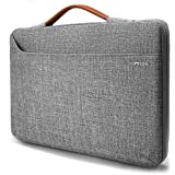 "tomtoc 360° Protective Laptop Sleeve Fit 13.5"" Microsoft Surface Book 3/2/1, Surface Laptop 3/2/1,13"" Old MacBook Air/MacBook Pro, Waterproof 13"" Notebook Tablet Briefcase Accessory Bag Gray"