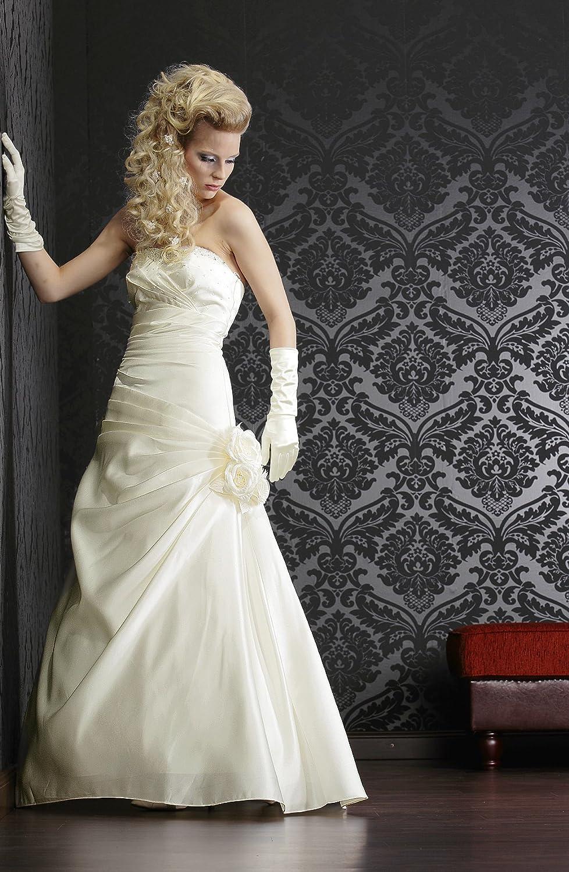 Brautkleid / Hochzeitskleid /Nina/ Satin 38 creme: Amazon.de: Bekleidung