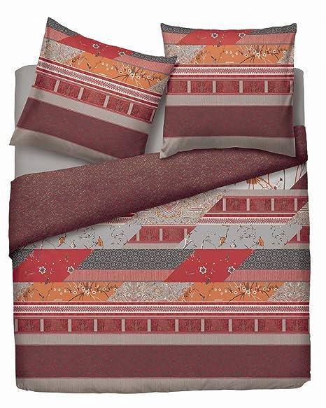 0adde0cd6b Bassetti reversible bed linen set satin rot size 135x200 cm (80x80 cm):  Bassetti: Amazon.co.uk: Kitchen & Home