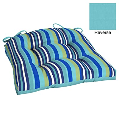 Mainstay Turquoise Stripe Outdoor Patio Wicker Seat Cushion : Garden & Outdoor