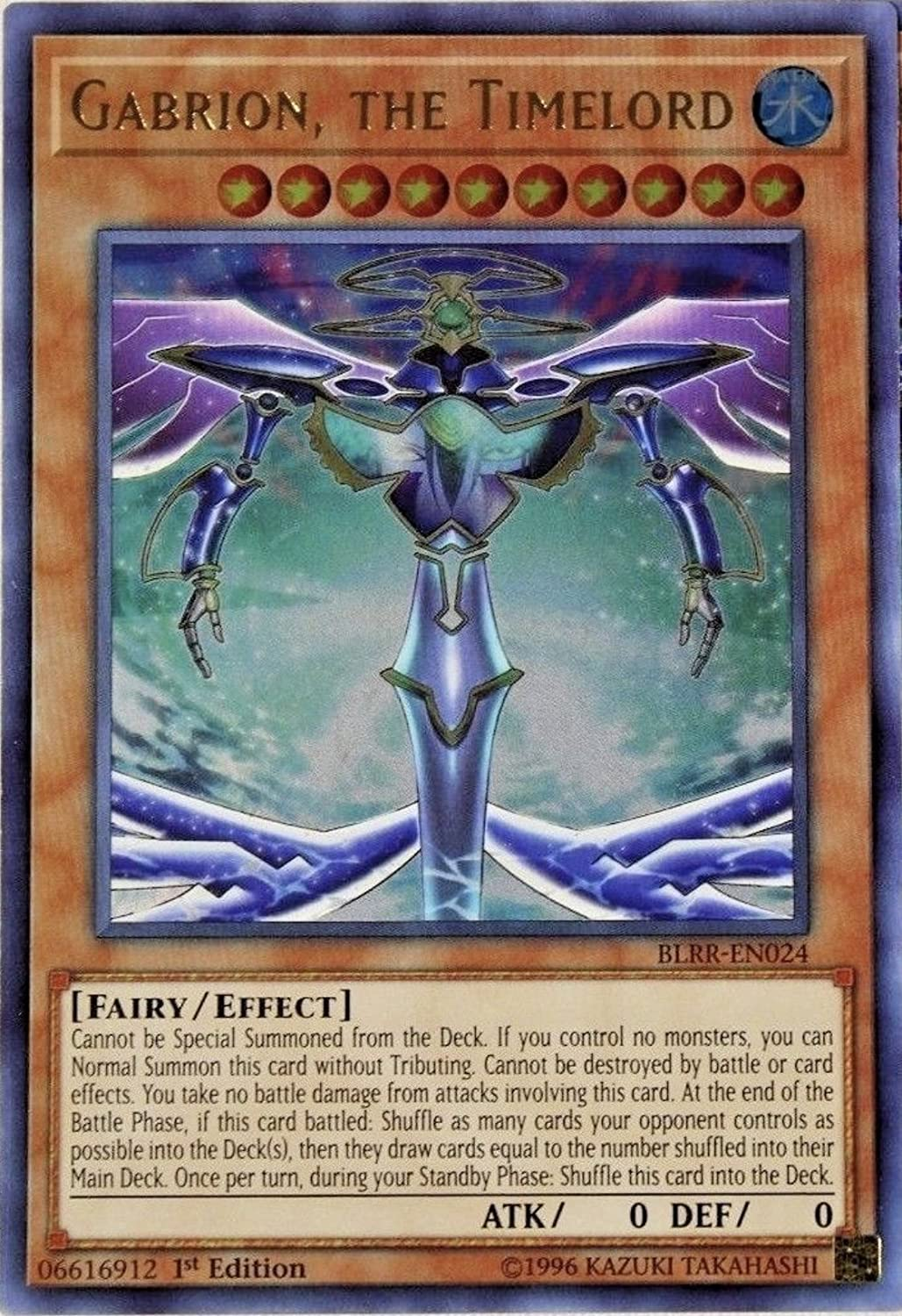 BLRR-EN056 Ultra Rare the Ultimate Timelord Yugioh 1st Edition Sephylon
