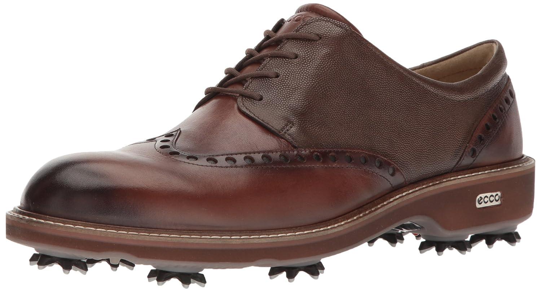 ECCO Men's Luxe Golf Shoe B005BIVNCK 46 EU/12-12.5 M US|Bison/Stone