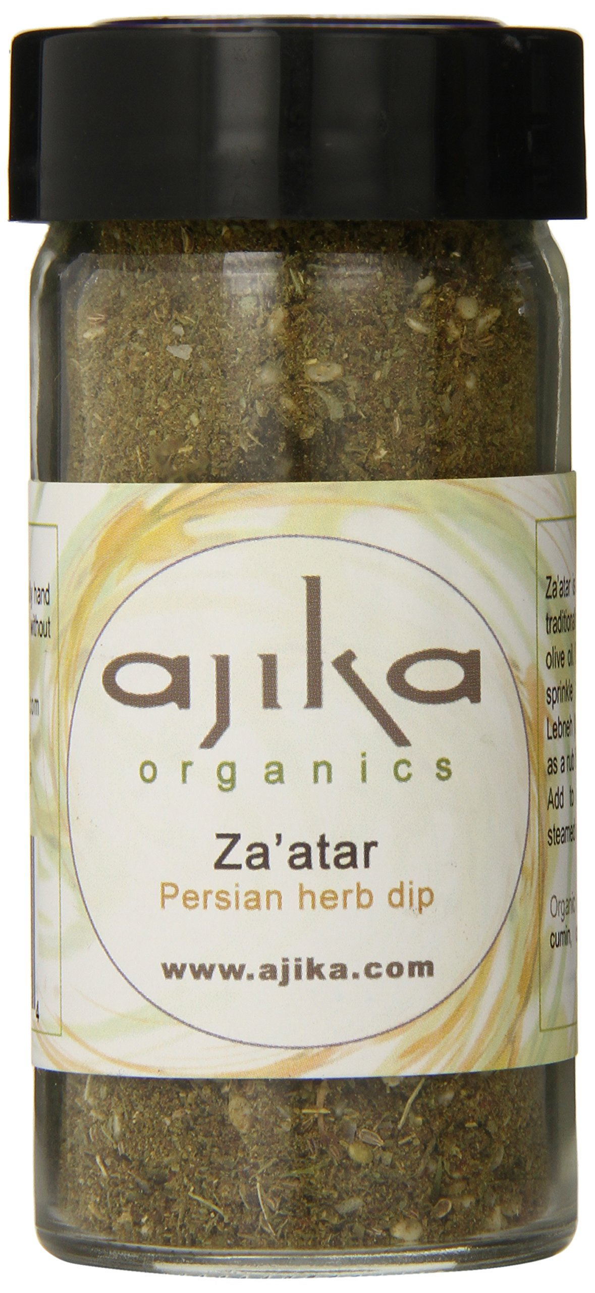 Ajika Organic Green Za'atar (Zaatar) - Herbal Seasoning for Bread, Cheese and Rice, 2-Ounce