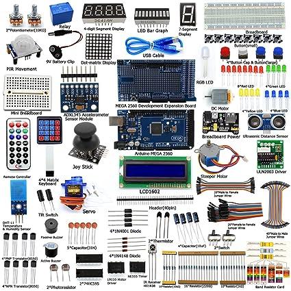 Amazon Adeept Ultimate Starter Kit For Arduino Mega2560 Lcd1602
