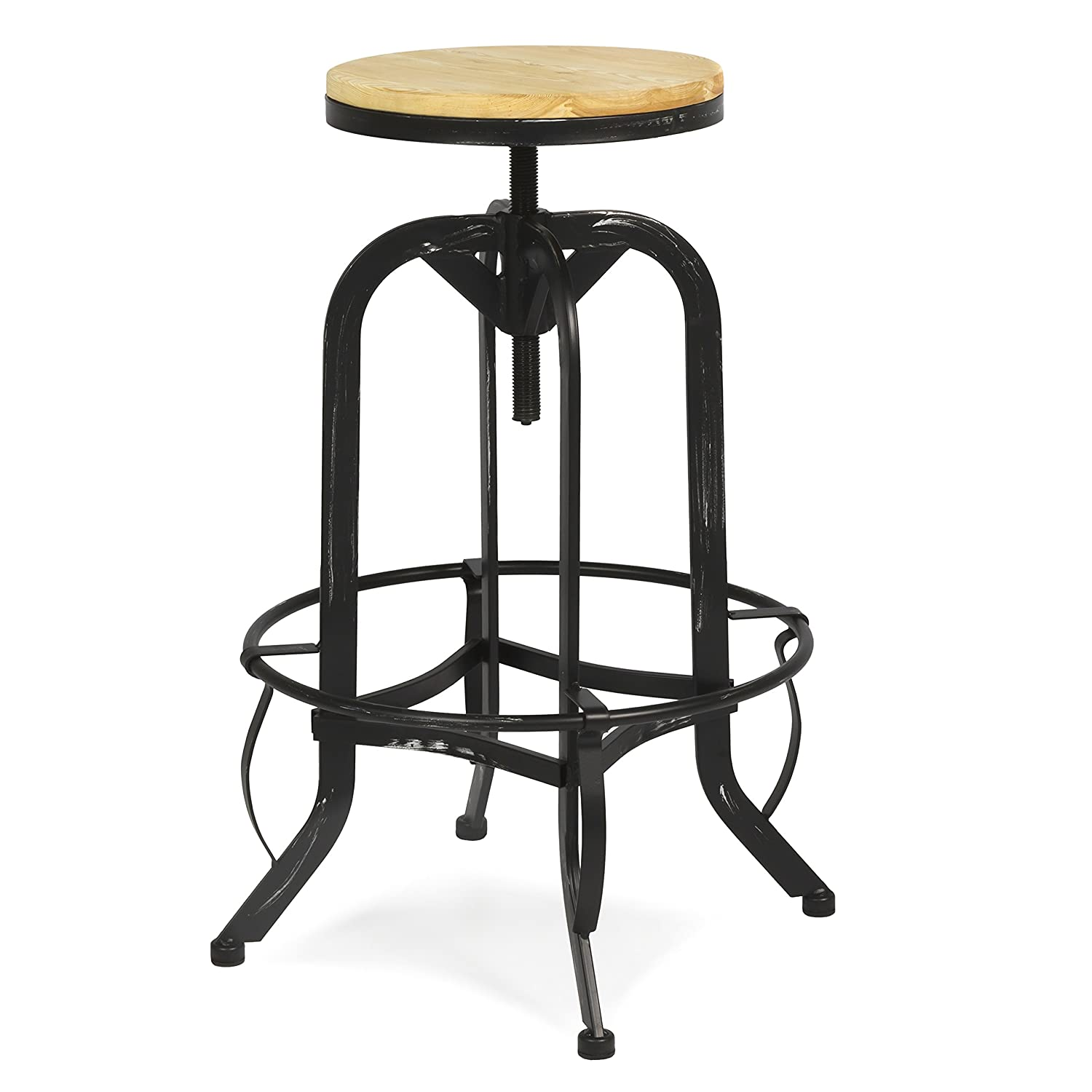 Amazon.com: Best Choice Products Vintage Bar Stool Industrial ...