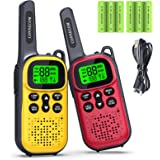Toys for 3-15 Year Old Boys Girls, CONNECOM Rechargeable Walkie Talkies for Kids 22 Channels 2 Way Radio Toy, Best Gifts for