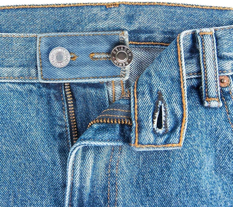 JMITHA Regolabili Elastici in Vita Pulsante estensore Cinturino estensori per Pantaloni con Chiusura a Bottone e a gancetto