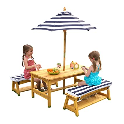 Miraculous Kidkraft Table And Bench Set With Umbrella Machost Co Dining Chair Design Ideas Machostcouk