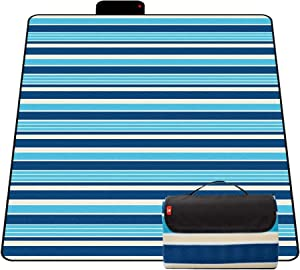 CAMEL CROWN Picnic Outdoor Blankets Waterproof Foldable Beach Blanket Mat for Camping on Grass Extra Large(8080) Picnic Mat 3 Layers Sand Proof Handy Mat Tote