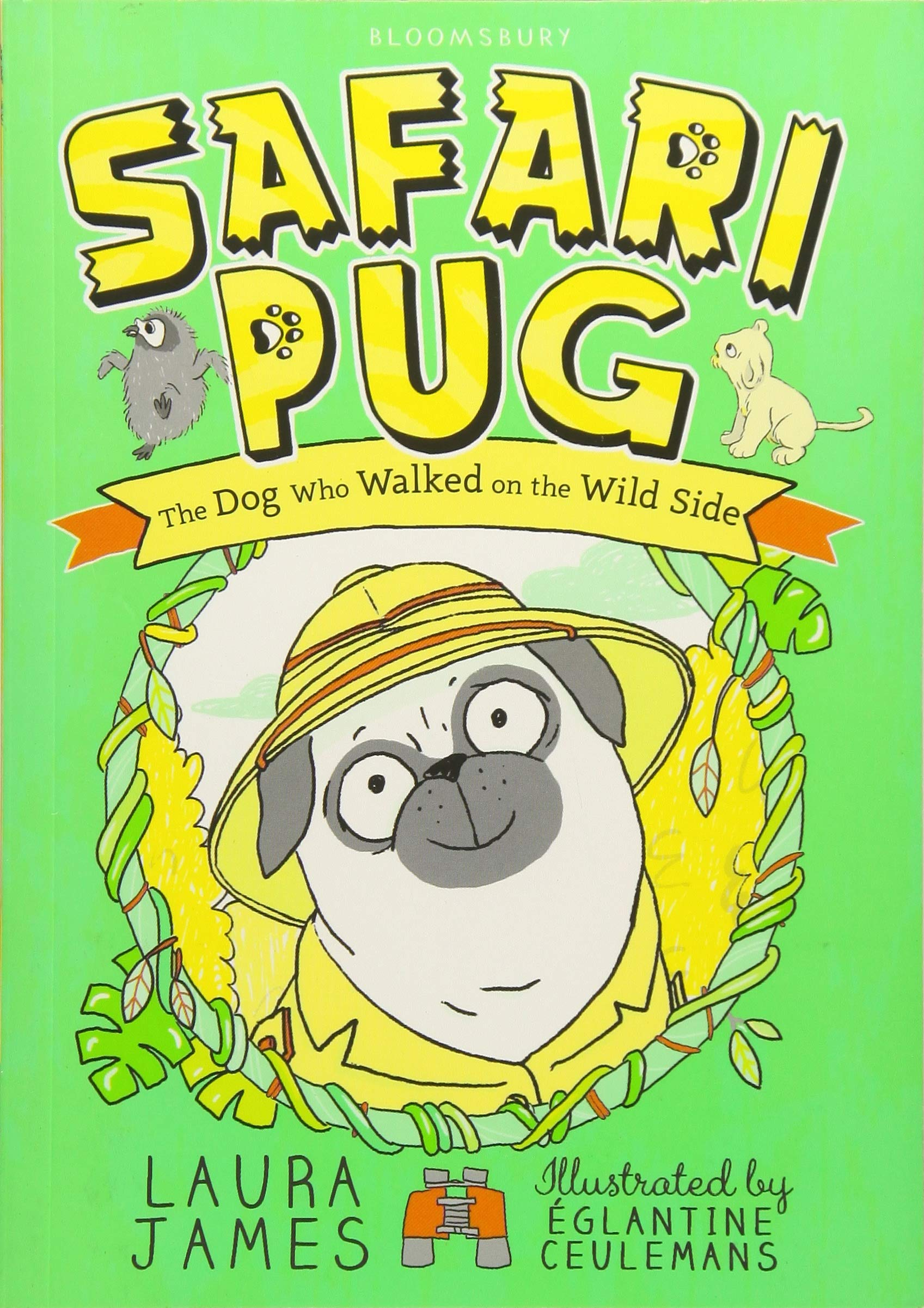Cover art for the book entitled Safari Pug