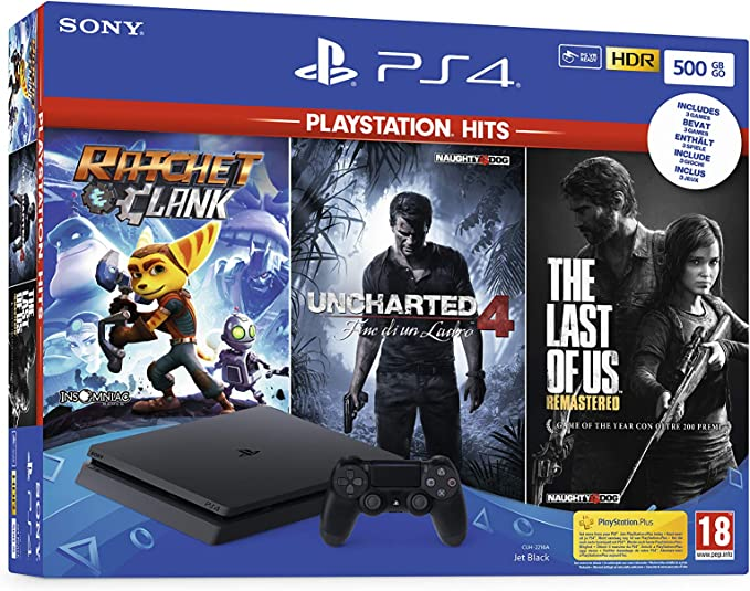 PlayStation 4 Slim 500GB F Chassis + Rachet & Clank + The Last Of ...