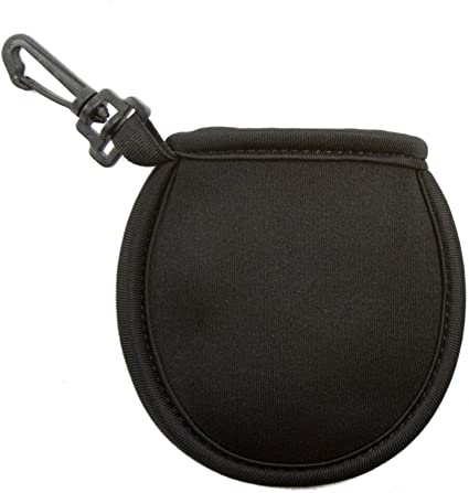 Amazon Com Stripe Golf Ball Washer Pouch Pocket Ball Cleaner With Clip Black Sports Outdoors