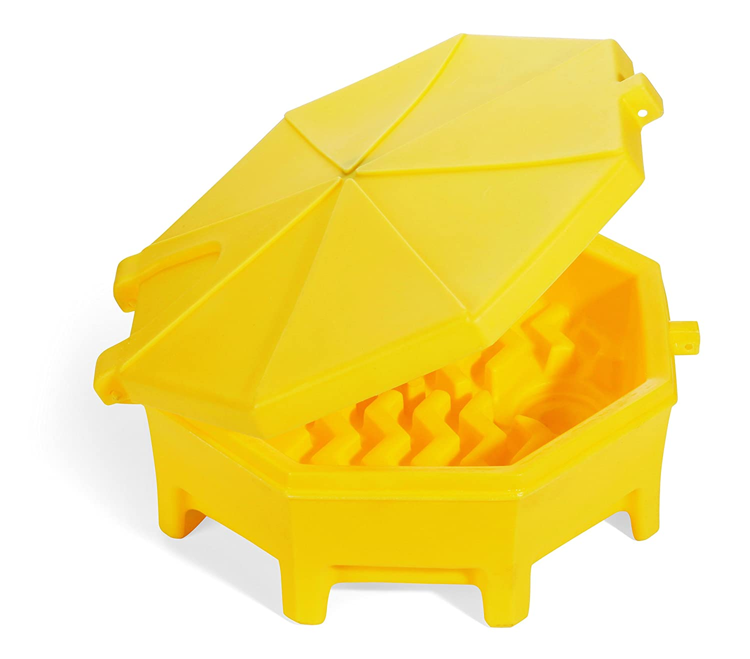 New Pig DRM672-YW PIG Poly Drum Funnel, 73 cm Length x 67 cm Width x 29 cm Height x 74 cm Diameter, Yellow New Pig Corporation