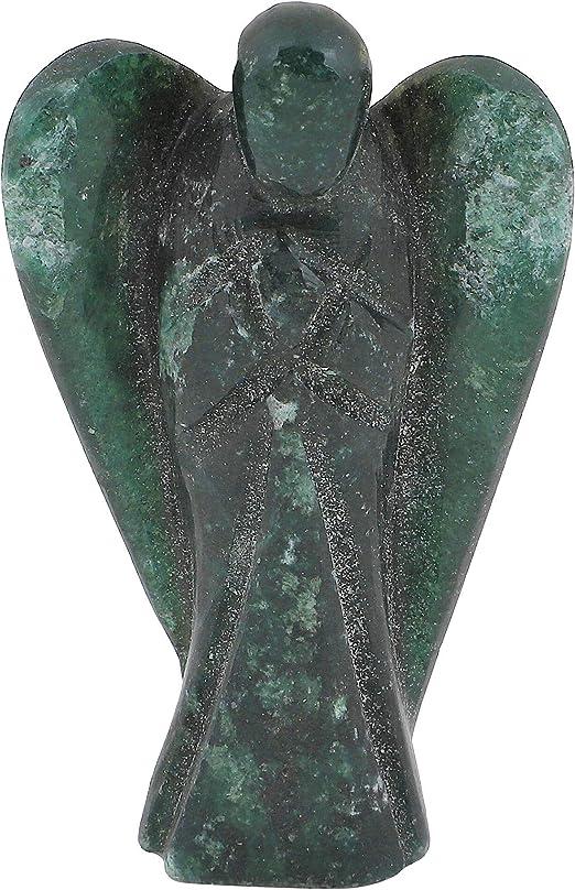 Hematite Carved Healing Statues Guardian Peace Figurine Pocket Angel