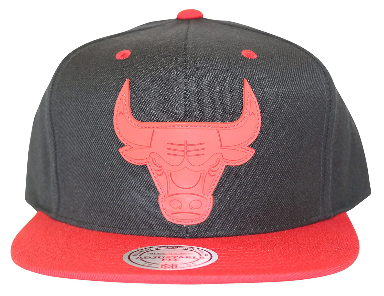 18a416b8a66 ... amazon mitchell ness mens nba xl rubber weld logo snapback cap chicago  bulls black at amazon