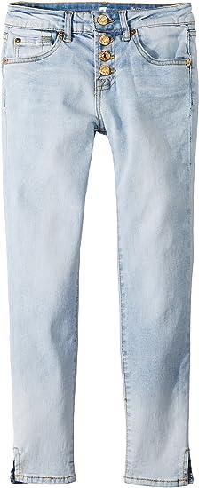 7 For All Mankind Kids Womens Skinny Jeans In Ocean Breeze (Big Kids) Ocean bb8de304f