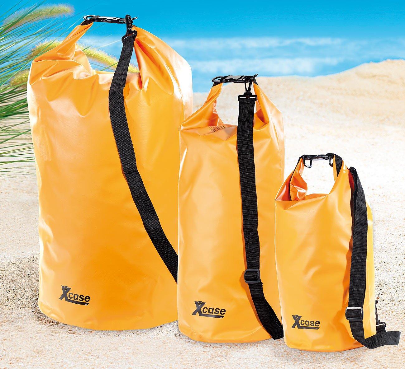 Xcase wasserdichte Tasche Wasserdichter Packsack 16 Liter orange wasserdichte Packtasche