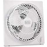 BLACK+DECKER BFB09W 9 in. Quiet Mini Tabletop Box Fan, White, 9 in. Fan